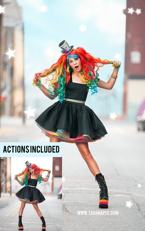 The Rainbow Doll Painterly Photoshop Tutorial- Skin & Portrait Retouch Action Workflow Set Included -- Fine Art Tutorial by Tara Mapes