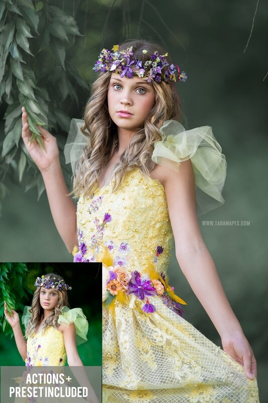 The Forest Fairy Painterly Photoshop Tutorial- Skin & Portrait Retouch Action Workflow Set Included - Fairy Tones PRESET included-- Fine Art Tutorial by Tara Mapes
