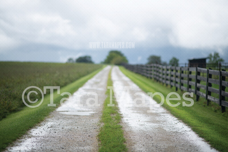 Stormy Country Road Digital Background- Country Road Digital Backdrop