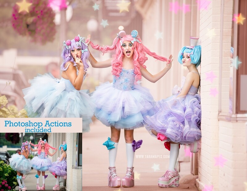 Pastel Dolls Painterly Photoshop Tutorial- Skin & Portrait Retouch Action Workflow Set Included -- Fine Art Tutorial by Tara Mapes