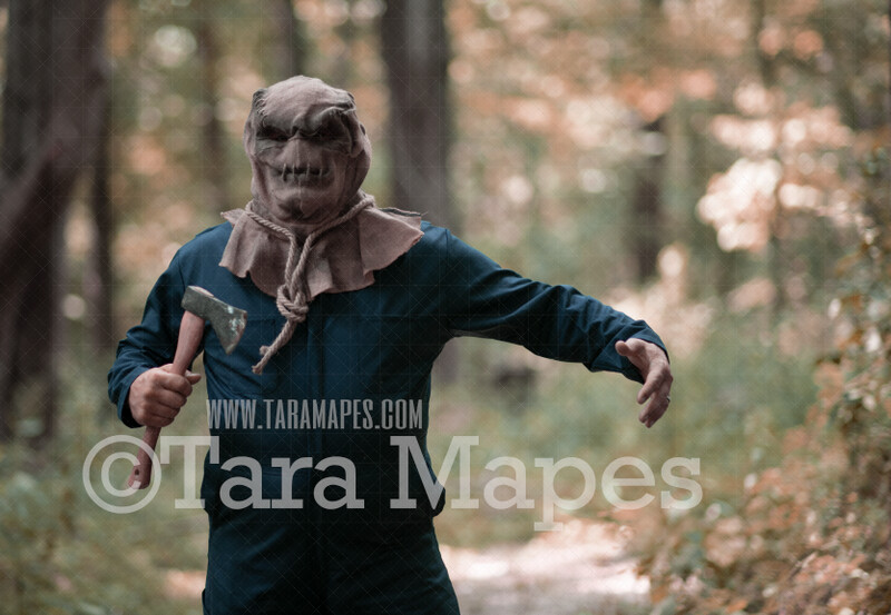 Halloween Digital Backdrop - Serial Killer Posing - Killer Selfie - Funny Spooky - Creepy Killer -  Halloween Digital Background