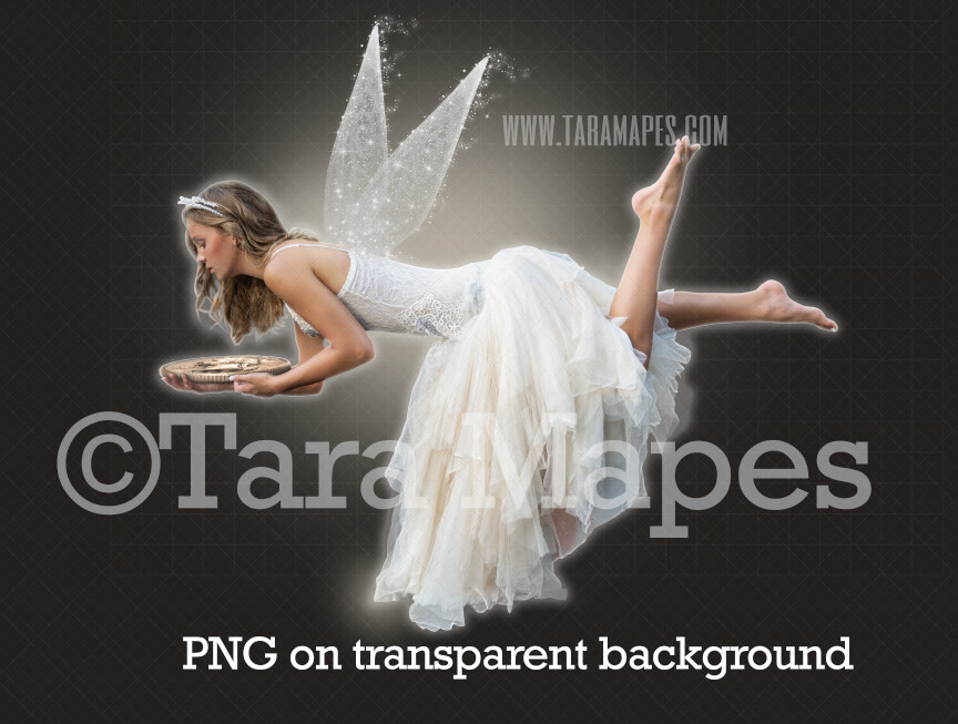 Tooth Fairy with Quarter Overlay PNG - Toothfairy Clip Art - Tooth Fairy Flying PNG - Tooth Fairy on Transparent Background