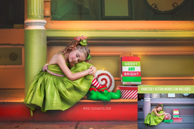 Little Elf Dreamer Photoshop Tutorial - PAINTERLY ACTION SET INCLUDED- Fine Art Tutorial by Tara Mapes