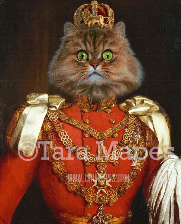 Royal Pet Portrait KING Body Layered PSD Template- Pet Painting Portrait Body 25-- Layered PSD  Digital Background Backdrop