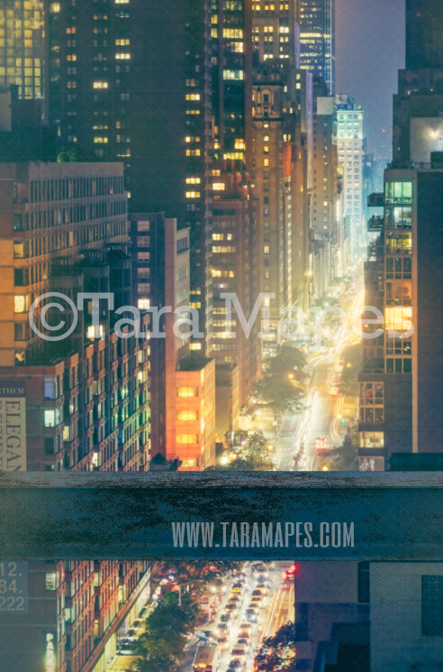 Superhero Digital Backdrop - Beam over building - Beam over New York City - Superhero City Digital Background