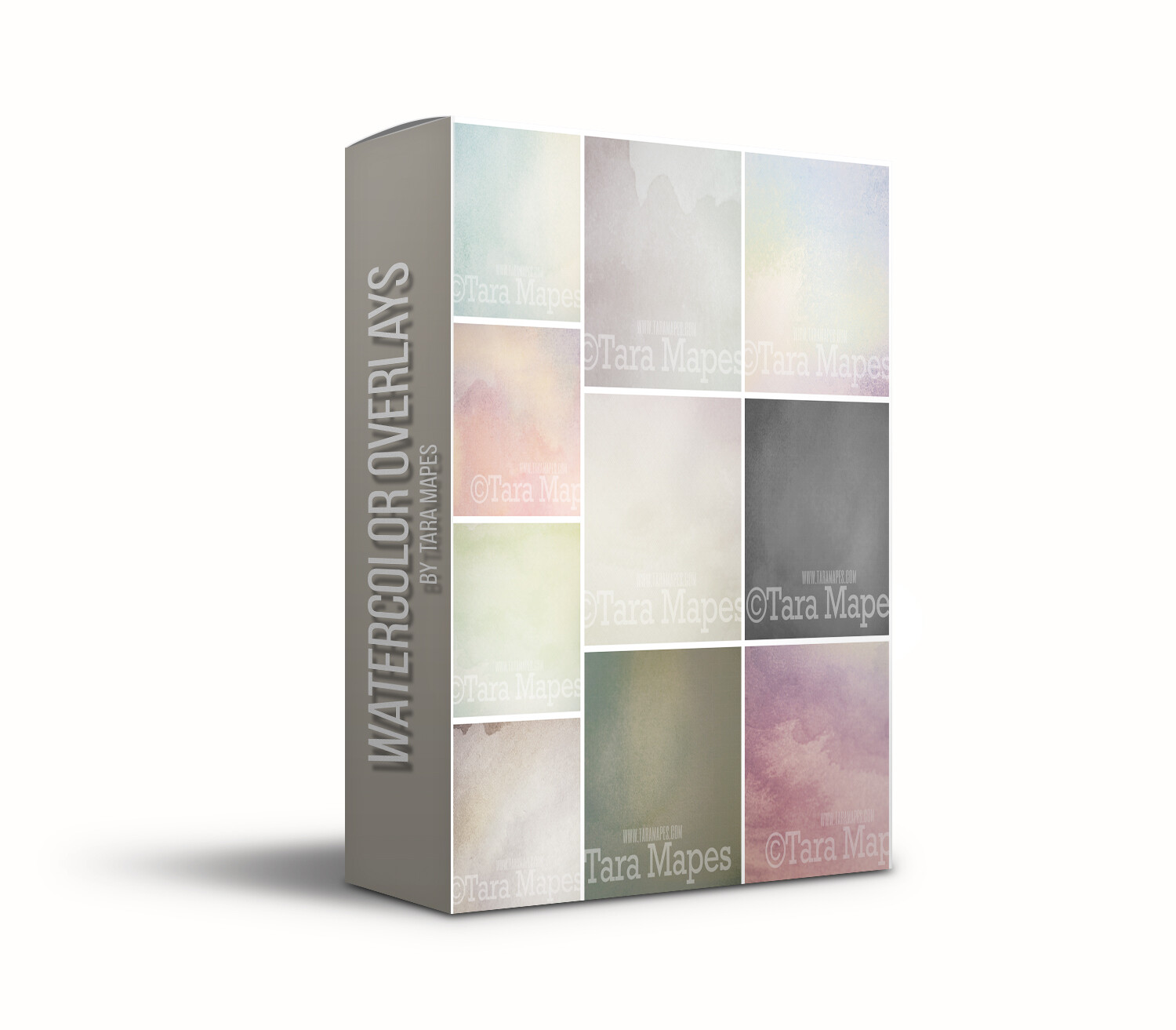 Watercolor Overlays - 10 pack of Watercolor Overlays - Texture overlays for Fine Art