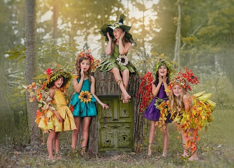 Fairy Tree Door Backdrop - Magical Fairy Door - Natural Digital Background