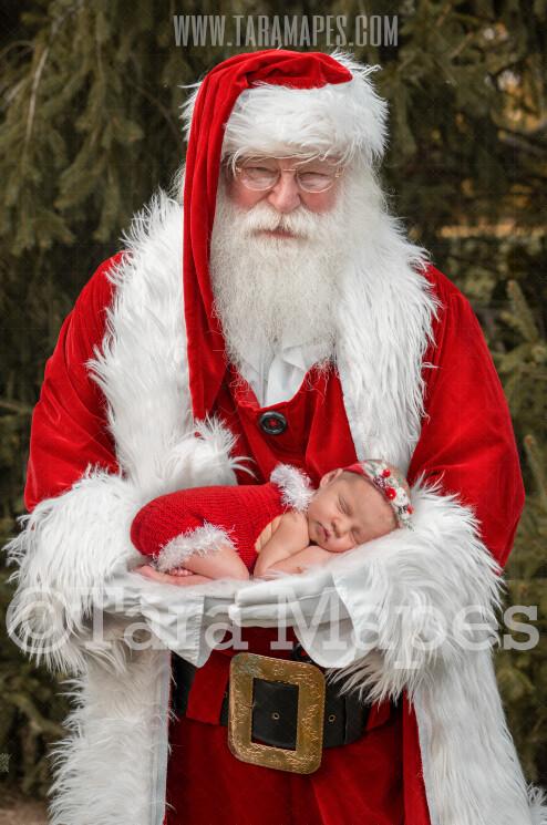 Santa Digital Backdrop - Newborn Digital Backdrop - Santa Newborn Scene - Christmas Digital Background Backdrop