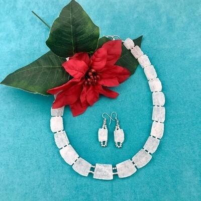 White Quartz Necklace & Earring Set