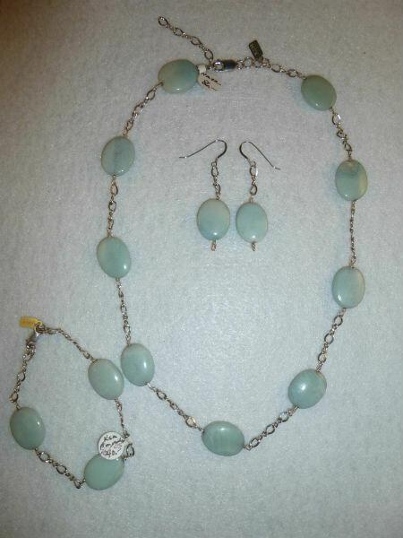 Amazonite Necklace & Earring Set