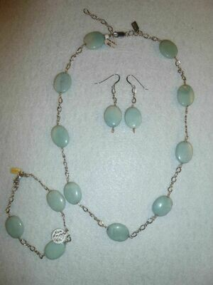 Amazonite Necklace & Earring Set
