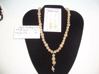 Rutilated Quartz Necklace & Earring Set
