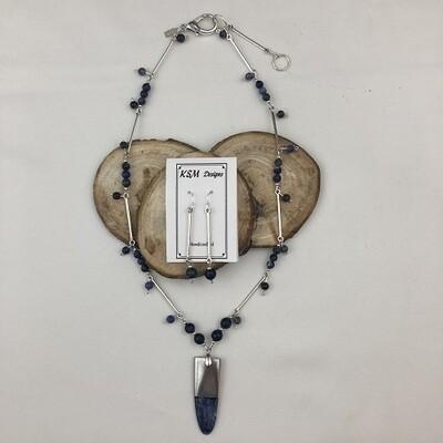 Sodalite Necklace & Earring Set