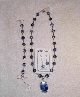 Lapis Necklace & Earring Set