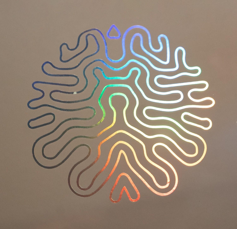 Hologram-Silhouette Vinyl sticker
