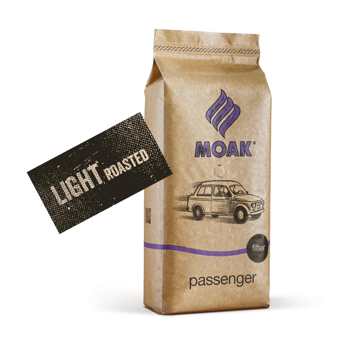 Moak Passenger Light Roast suodatinkahvi, papu 1 kg
