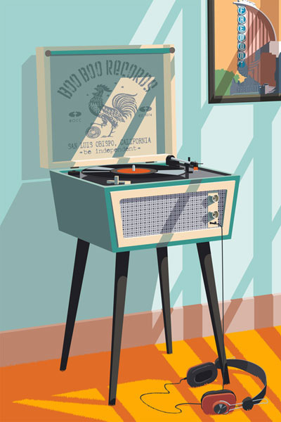 Boo Boo Records Art Print - Small