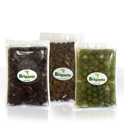 Olive Assortite (nere, schiacciate, verdi)