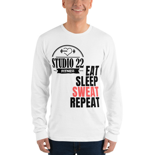 Eat Sleep Sweat Repeat Long Sleeve T-Shirt