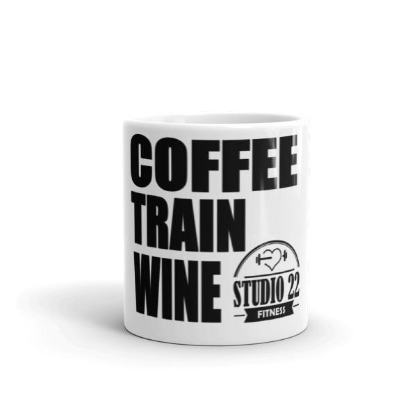 Coffee Train Wine White Mug