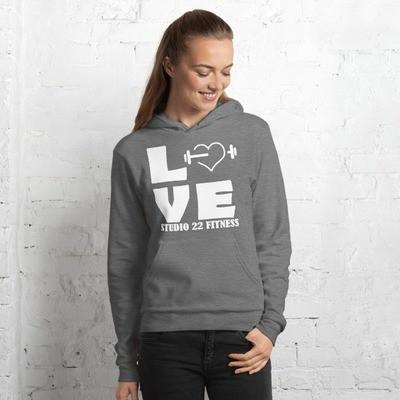 LOVE Fleece Pullover Hoodie