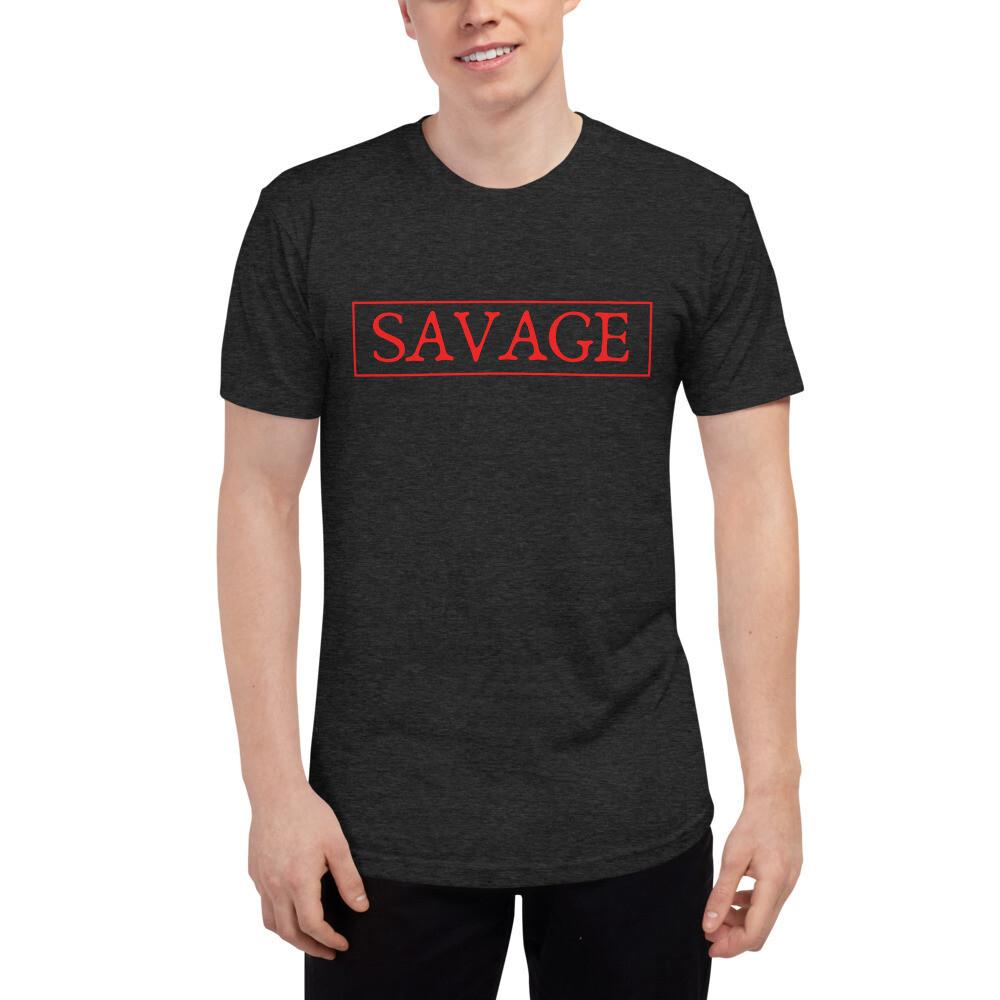Savage: Tri-Blend Track Shirt