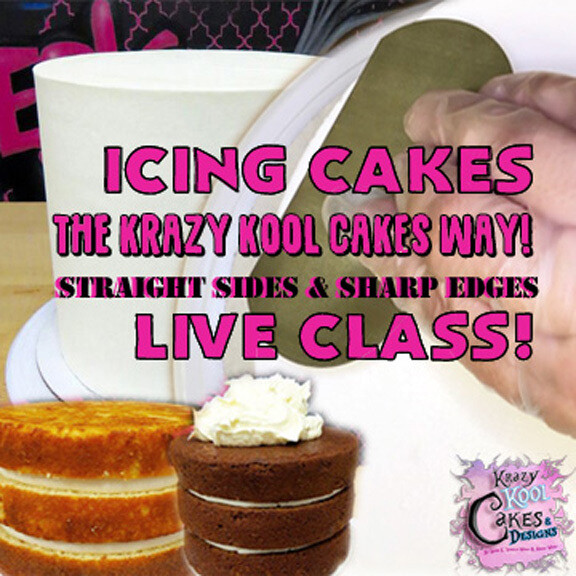 Icing Cakes: ONLINE CLASS! NEW LOW PRICE (down from $35!)