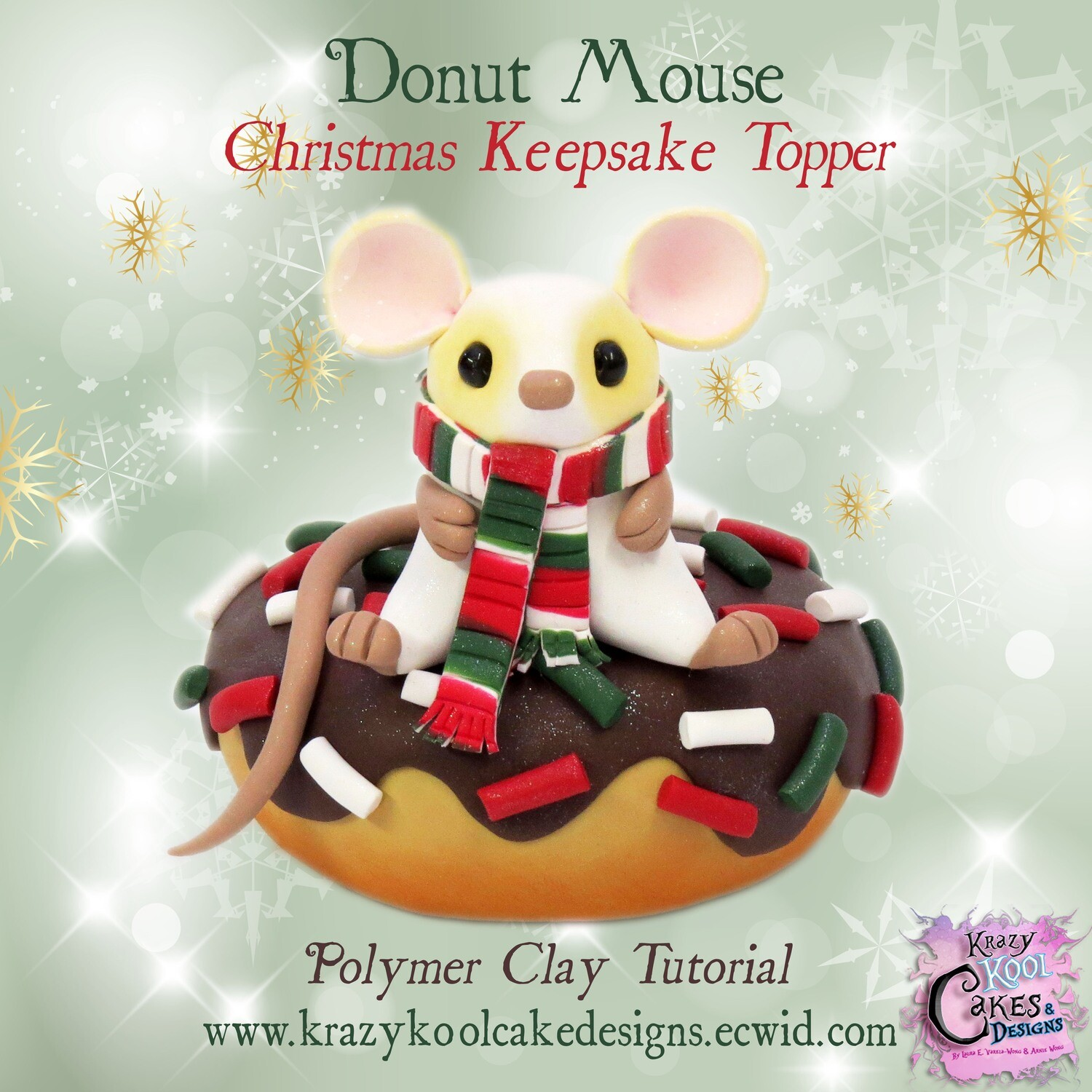 Donut Mouse Christmas Keepsake Topper: Polymer Clay Tutorial