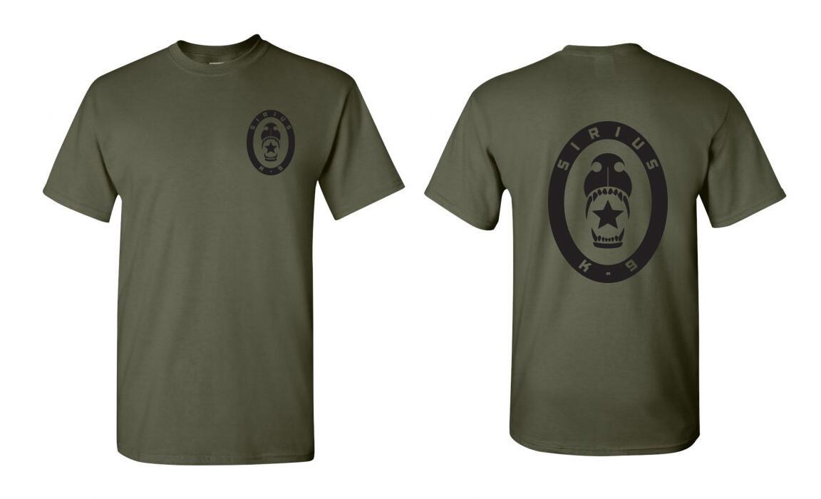 Sirius K9 Tee Shirt  - Military Green