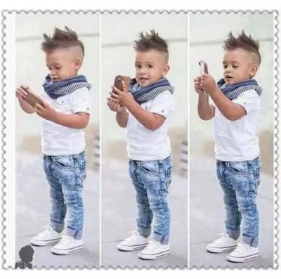 Boys Neck Scarf Three Piece Outfit