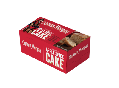 Captain Morgan 10 oz Apple Spice Loaf Cake- 2 pack