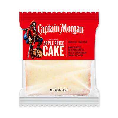 Captain Morgan 4 oz. Apple Spice Slice Cake- 6 pack