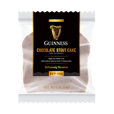 Guinness 4 oz. Chocolate Stout Slice Cake- 6 pack