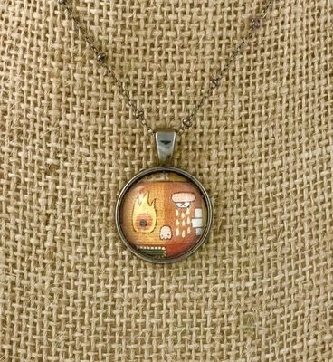 BARCELONA STREET ART pendant necklace