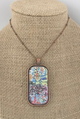 Graffiti Art Pendant Necklace / Keychain