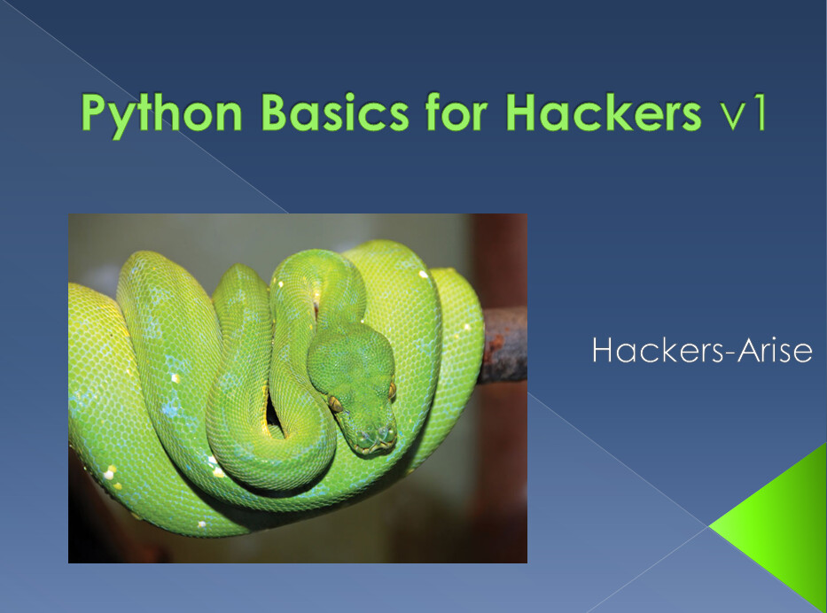 Python Basics for Hackers v1