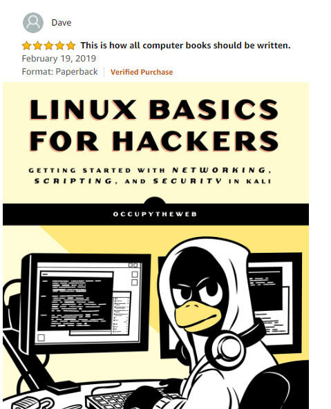 Autographed Copy of Linux Basics for Hackers