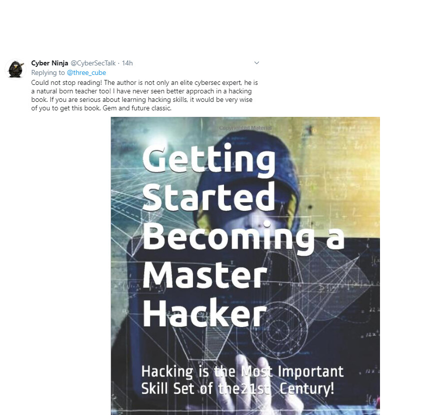 """Autographed Copy of """"Getting Started Becoming a Master Hacker"""""""