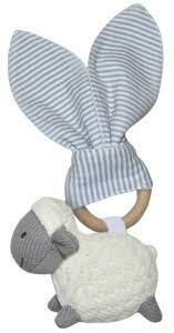 Knitted Toy Teether Set- Sheep