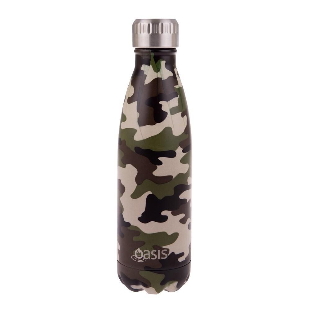 Drink Bottle 500ml Camo Green