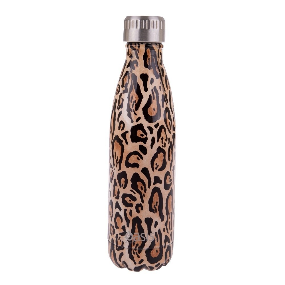 Drink Bottle 500ml Leopard Print