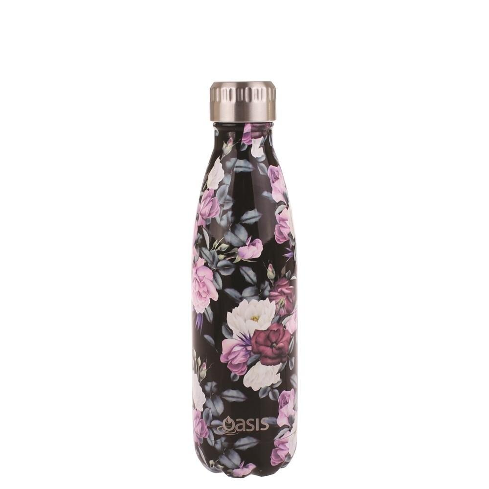 Drink Bottle 500ml Midnight Floral