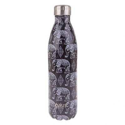 Drink Bottle 750ml Boho Elephants
