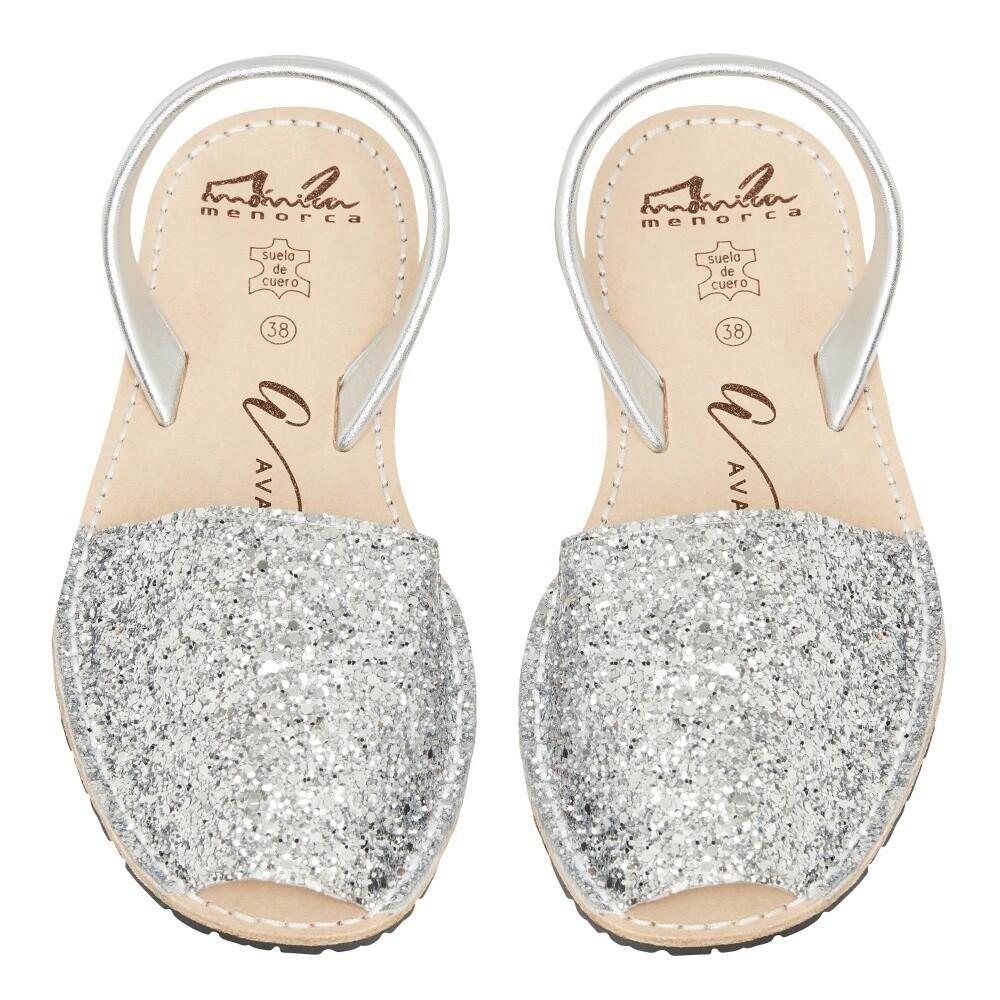 Avarcas Silver Glitter