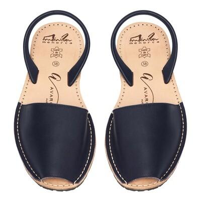 Avarcas Navy Leather