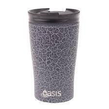 Travel Cup 350ml Black Crackle