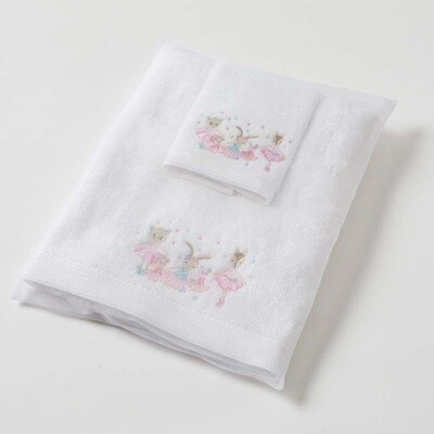 Ballerina Baby Towel & Face Washer