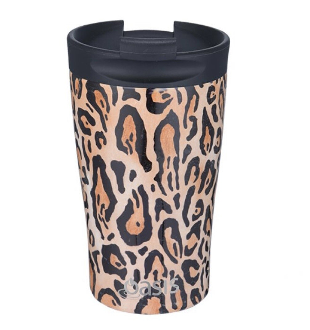 Travel Cup 350ml Leopard Print