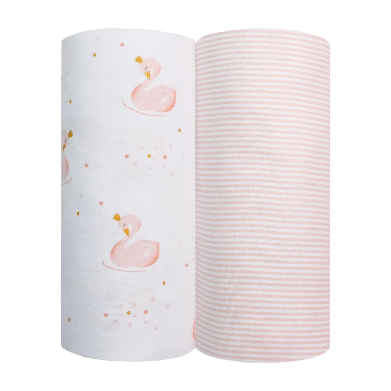 Jersey Wraps Swan/Pink Stripe