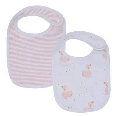 Bibs-Swan/Blush Stripe